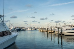 Yachts moored at key West marina. Miami, Florida