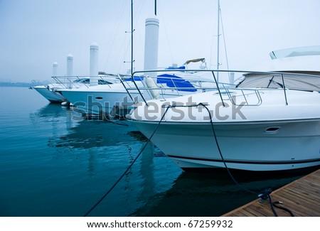 yachts moored at Marina on a summer day. #67259932