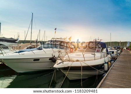 Yachts on the dock #1183209481