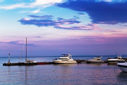 Yachts on the marina
