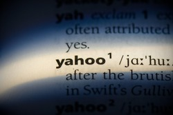 yahoo word in a dictionary. yahoo concept, definition.