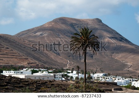 Yaiza on Lanzarote, Canary Islands, Spain.