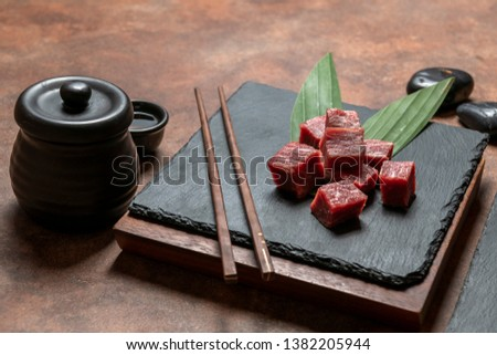 Yakiniku, a Japanese grilled meat cuisine. Wagyu beef the best beef in cow.