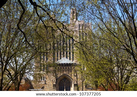Yale University Sterling Memorial Library Leaves New Haven Connecticut Fifth largest library in the United States