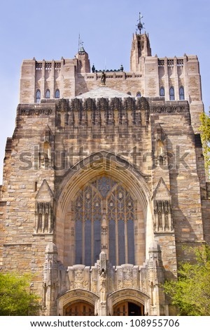 Yale University Sterling Memorial Library New Haven Connecticut Fifth largest library in the United States