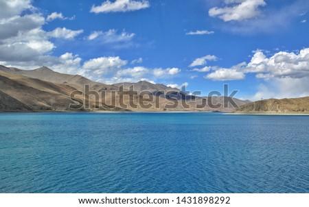 yamdrok yumtso lake in Tibet  #1431898292