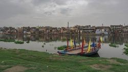 Yamuna river in Mathura. India