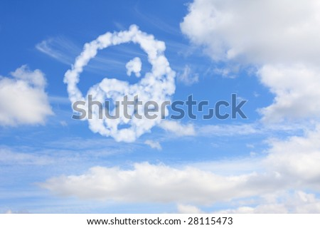 Yang and yin symbol from clouds