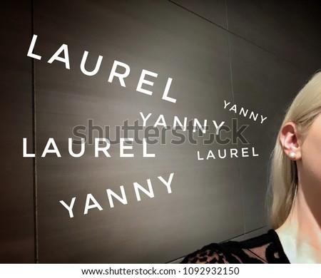 Yanny vs  Laurel Blonde woman hearing #1092932150