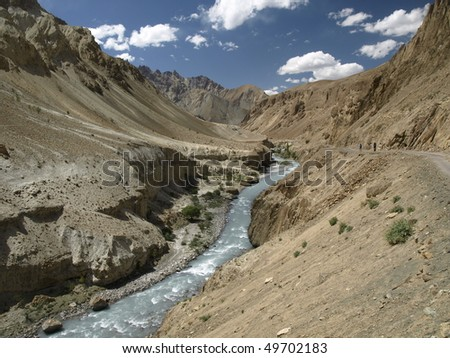 Yapola river in Himalayas, Ladakh, India
