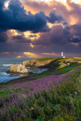 Yaquina Head Lighthouse, just north of Newport Oregon