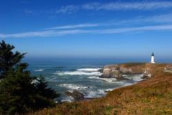 Yaquina Head Lighthouse on the Central Oregon Coast