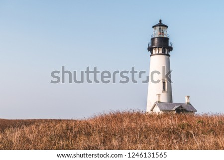Yaquina Head Lighthouse on the Oregon coast.