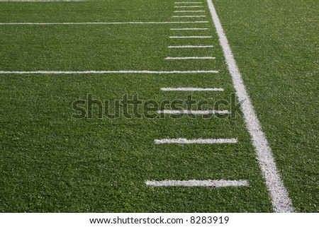 Yard marks on the sideline