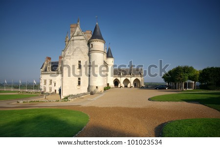 yard of Amboise castle, France - stock photo
