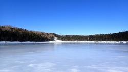 Yatsugatake Chushin-Kogen Quasi-National Park Frozen pond