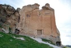 Yazilikaya , Midas Monument . Phrygia valley in the middle of Kutahya, Eskisehir, Afyon in Turkey.