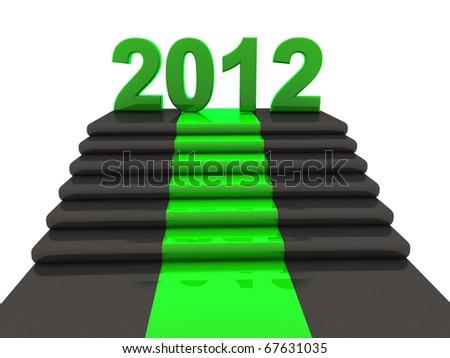 year 2012 - stock photo