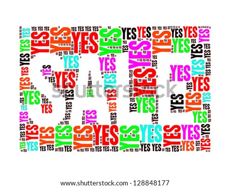year end sales text collage Composed in the shape of sale word