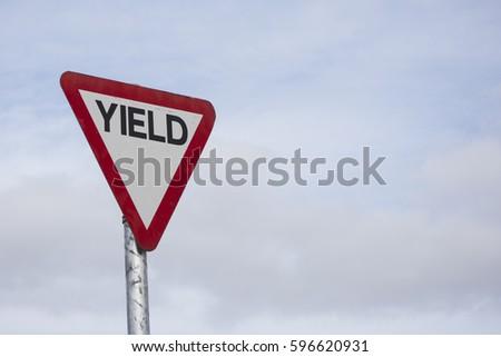 Yeild traffic sign Irish Road Signs