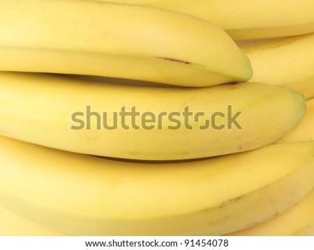 yelloew banana - stock photo