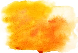 Yellow abstract watercolor strokes, may be used as background
