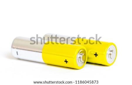 yellow alkaline batteries #1186045873