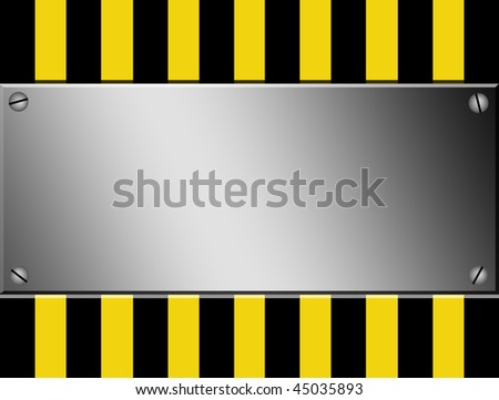 Yellow and black lines with chrome sheet