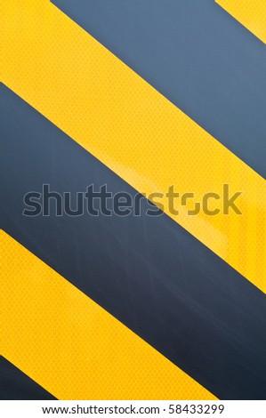 yellow and black marking - stock photo