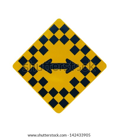 Yellow And Black Road Sign, Diamond Shaped. Caution: Must ...