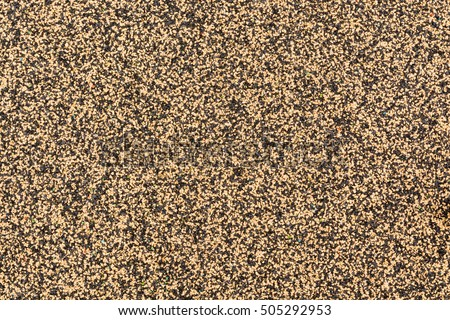 Yellow And Black Rubber Floor Or Mat On Playground Texture Pattern Background 505292953
