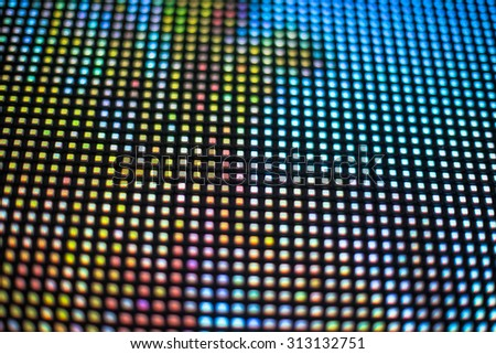Yellow and blue colored LED smd screen - close up background