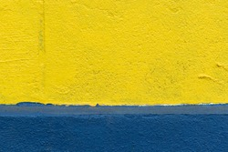 Yellow and blue rough wall texture