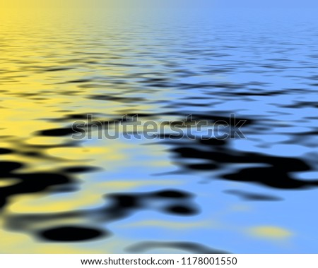 Yellow and blue Wavy abstract silky background filling the frame.
