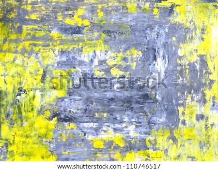 Abstract Yellow Paintings Yellow And Grey Abstract Art