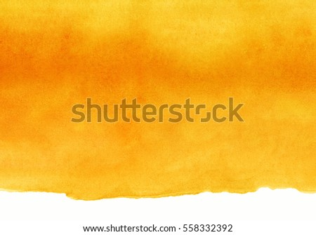 yellow and orange watercolor on ...