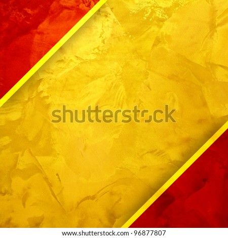 Yellow and red textured. golden design background