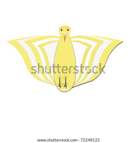 Yellow and White Bird from Front