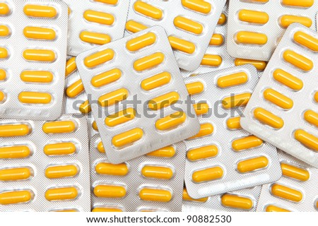 Yellow  assorted pills