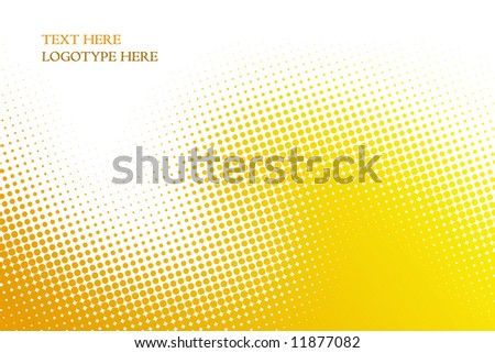 yellow background from balls on white