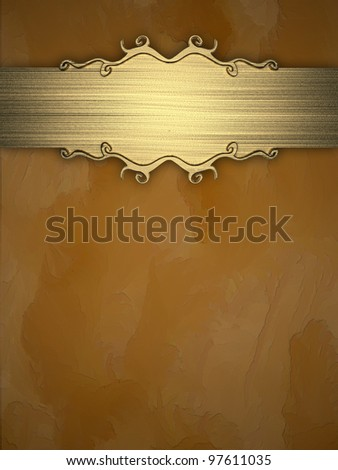 Yellow Background with Gold Band