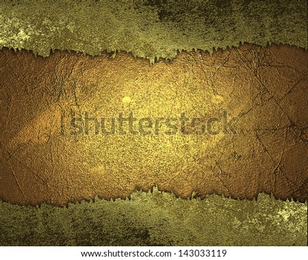 Yellow background with gold torn edges. Design template. Design template. Template