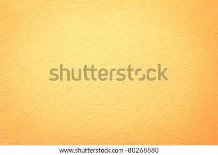 yellow background with round organic ornaments