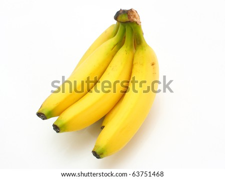 Yellow bananas apples and pears a still-life on a white background