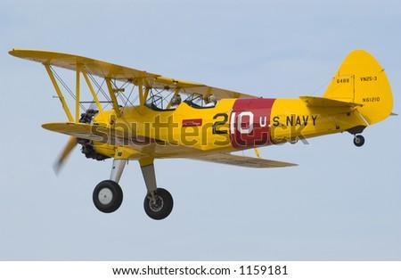 Yellow Biplane 2