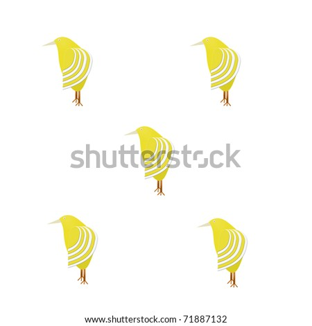Yellow bird pattern