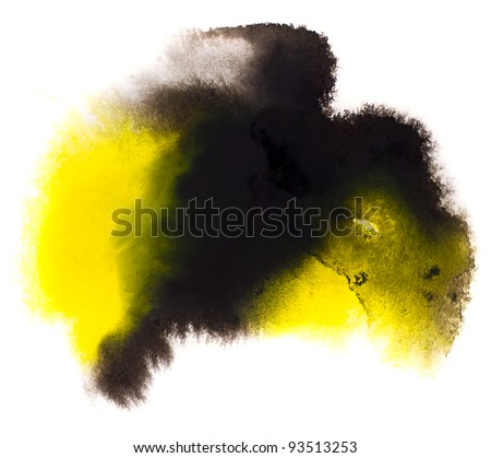 yellow black macro spot blotch texture isolated on a white background