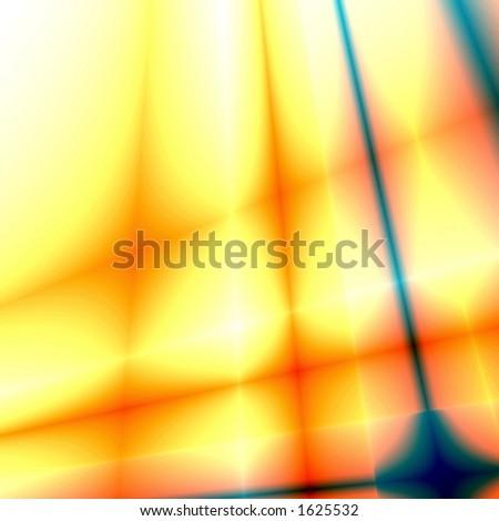 Yellow-blue abstract fantasy