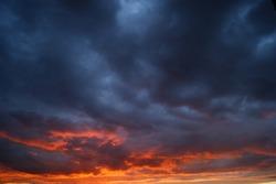 Yellow blue summer sunset evening