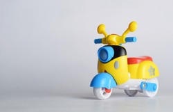 Yellow blue Toy scooter